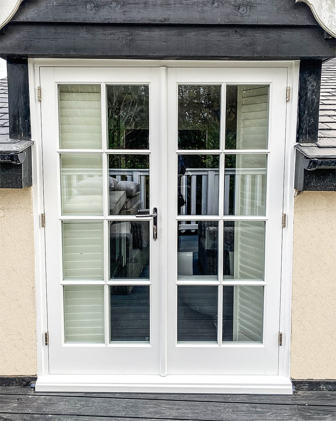 White Timber French Doors with Georgian Bars