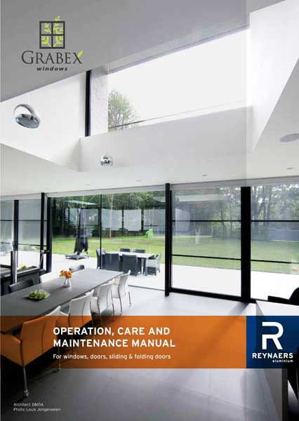 Homeowner's Manual: Aluminium Windows & Doors