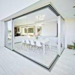 HiVision 20 Ultra Slim Sliding Doors - open corner configuration