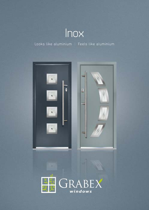 Inox composite doors looking like aluminium