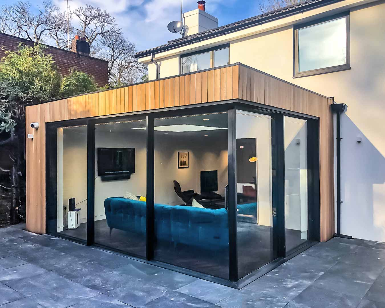 House extension with Hi-Finity Slim Sliding Doors in Corner configuration