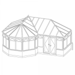 p-shaped conservatory style