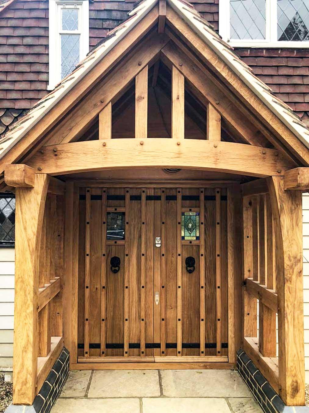 Timber oak Entrance Doors in oil finish Oil