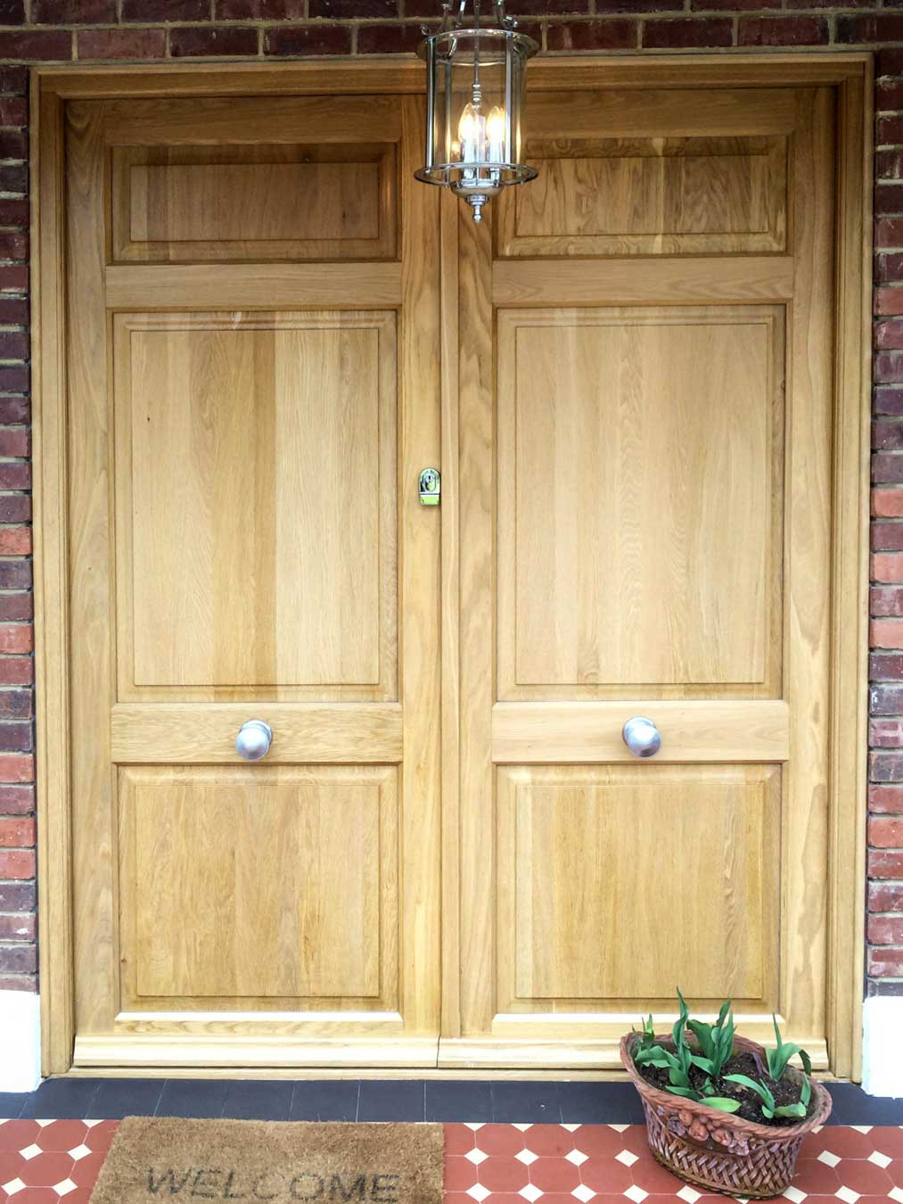 Solid Timber Double Entrance Doors