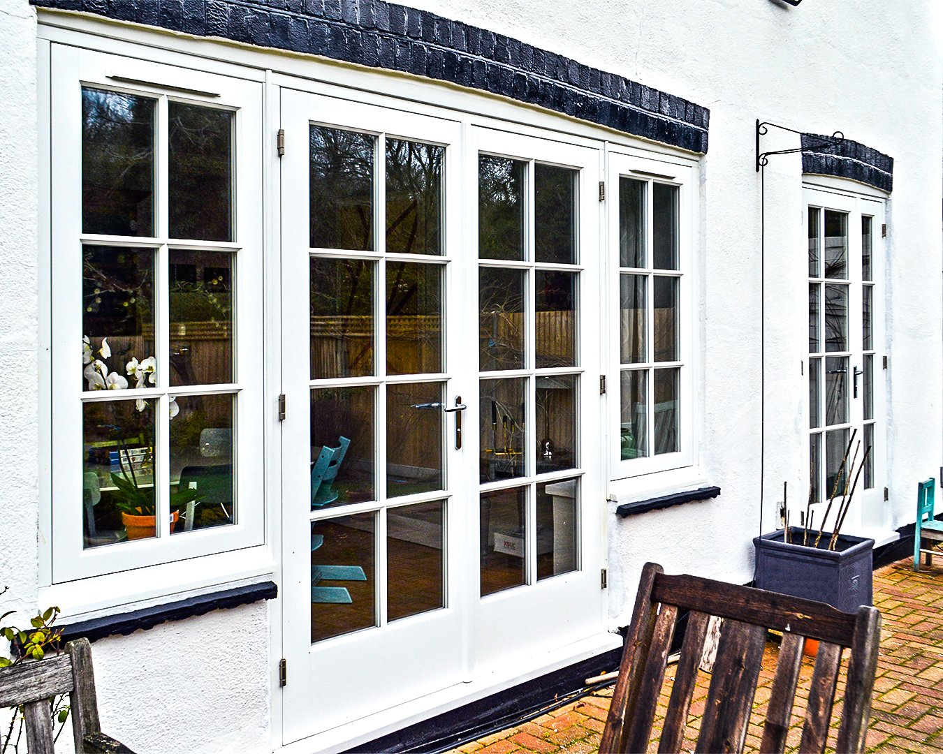 Timber French Doors with Georgian Bars