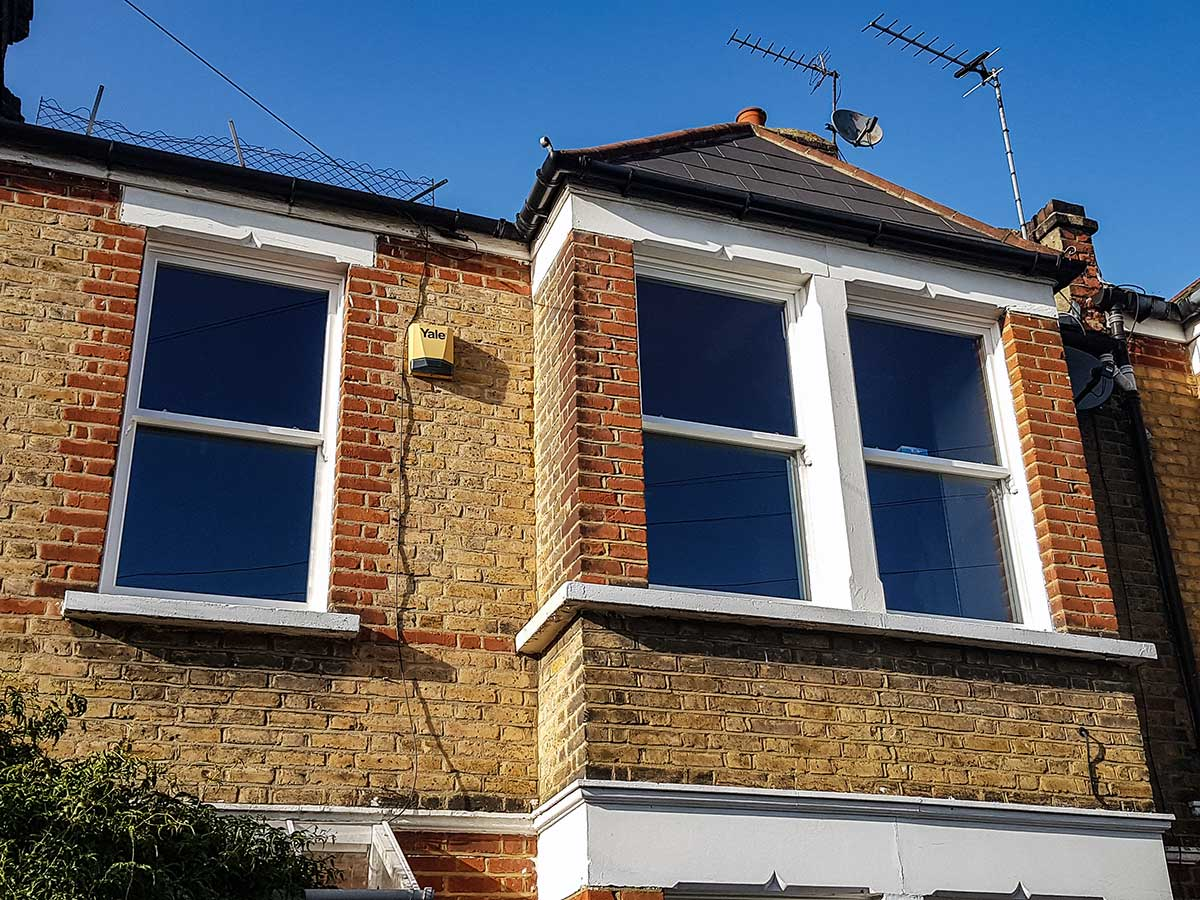 Timber Vertical Sliding Sash Windows with classic horns