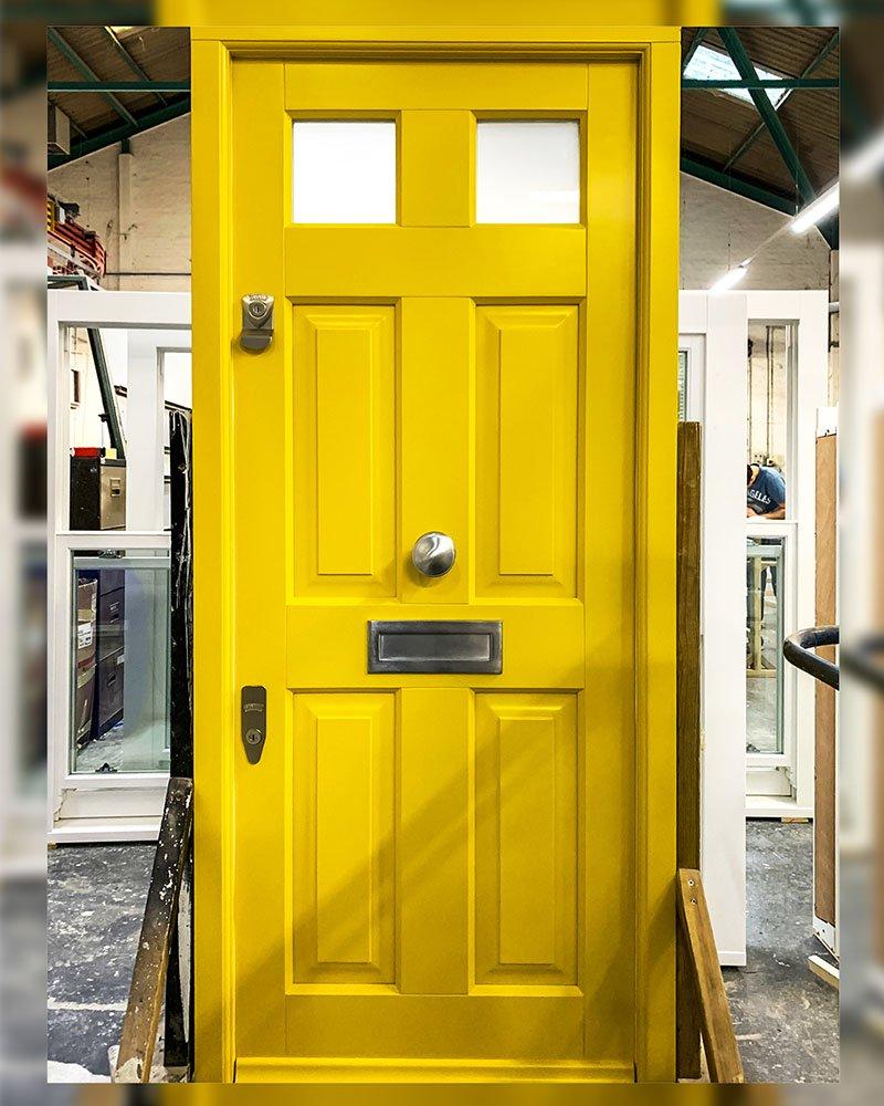 Yellow Timber Doors